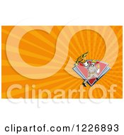 Clipart Of An Electrician Background Or Business Card Design Royalty Free Illustration