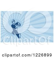 Clipart Of A Serving Waiter Background Or Business Card Design Royalty Free Illustration by patrimonio