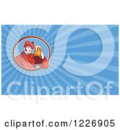 Clipart Of A Scotsman And Beer Background Or Business Card Design Royalty Free Illustration by patrimonio
