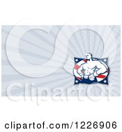 Clipart Of A Boxer Fighter And Rays Background Or Business Card Design Royalty Free Illustration by patrimonio