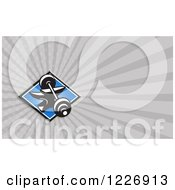 Clipart Of A Barbell And Anvil Background Or Business Card Design Royalty Free Illustration by patrimonio