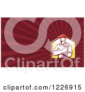 Refrigeration Mechanic Background Or Business Card Design