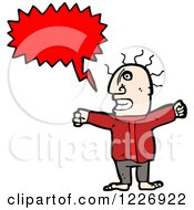 Clipart Of A Talking Man Royalty Free Vector Illustration