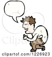 Clipart Of A Talking Man Royalty Free Vector Illustration by lineartestpilot