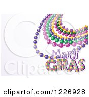 Clipart Of A Mardi Gras Background With Beads And Text Space Royalty Free Vector Illustration