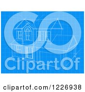 Clipart Of A House Blueprint Page Royalty Free Vector Illustration
