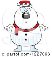 Surprised Christmas Snowman