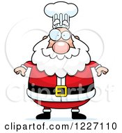 Clipart Of A Happy Chef Santa Royalty Free Vector Illustration by Cory Thoman