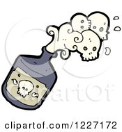 Poison Bottle With Skulls