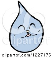 Clipart Of A Happy Water Drop Royalty Free Vector Illustration by lineartestpilot