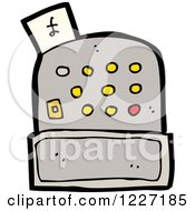 Clipart Of A Cash Register With A Pound Sterling Symbol Royalty Free Vector Illustration by lineartestpilot