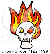 Poster, Art Print Of Skull With Flames