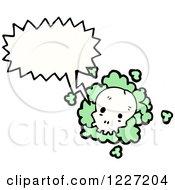 Talking Skull With Green Dust