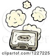 Clipart Of A Dusty Cassette Tape Royalty Free Vector Illustration
