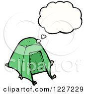 Clipart Of A Thinking Tent Royalty Free Vector Illustration by lineartestpilot