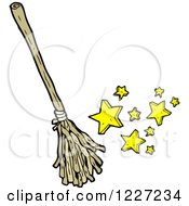 Clipart Of A Magic Broom Royalty Free Vector Illustration