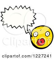 Clipart Of A Talking Emoticon Royalty Free Vector Illustration by lineartestpilot