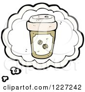 Clipart Of A Coffee Cup Thought Bubble Royalty Free Vector Illustration by lineartestpilot