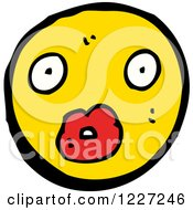 Clipart Of A Surprised Emoticon Royalty Free Vector Illustration by lineartestpilot