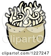 Clipart Of A Bowl Of Noodles Royalty Free Vector Illustration
