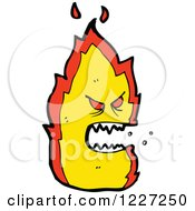 Clipart Of A Mad Fire Royalty Free Vector Illustration