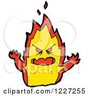 Clipart Of A Mean Fire Royalty Free Vector Illustration