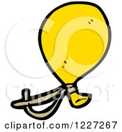 Clipart Of A Yellow Party Balloon Royalty Free Vector Illustration by lineartestpilot