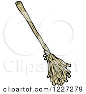 Clipart Of A Broom Royalty Free Vector Illustration by lineartestpilot