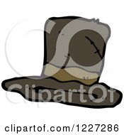 Clipart Of A Tattered Top Hat Royalty Free Vector Illustration
