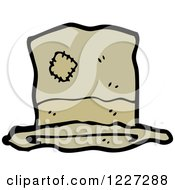 Clipart Of A Hat With A Patch Royalty Free Vector Illustration
