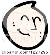 Clipart Of A Happy Emoticon Royalty Free Vector Illustration by lineartestpilot