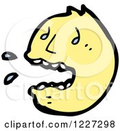 Clipart Of A Screaming Emoticon Royalty Free Vector Illustration by lineartestpilot