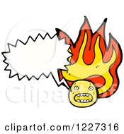 Clipart Of A Talking Flaming Emoticon Royalty Free Vector Illustration by lineartestpilot