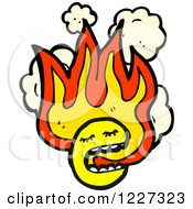 Clipart Of A Flaming Emoticon Royalty Free Vector Illustration by lineartestpilot