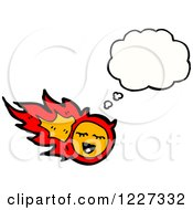 Clipart Of A Fire Talking Royalty Free Vector Illustration