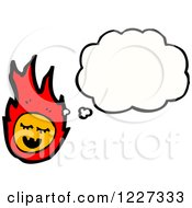 Clipart Of A Fire Thinking Royalty Free Vector Illustration