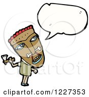 Clipart Of A Talking Witch Doctor Royalty Free Vector Illustration