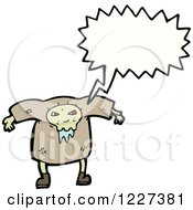 Clipart Of A Talking Drooling Monster Royalty Free Vector Illustration by lineartestpilot