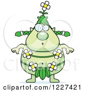 Clipart Of A Surprised Female Forest Sprite Royalty Free Vector Illustration