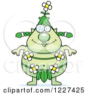 Clipart Of A Happy Female Forest Sprite Royalty Free Vector Illustration by Cory Thoman