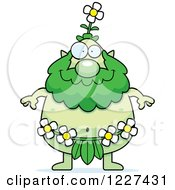 Clipart Of A Happy Male Forest Sprite Royalty Free Vector Illustration by Cory Thoman