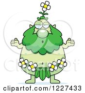 Clipart Of A Careless Shrugging Male Forest Sprite Royalty Free Vector Illustration by Cory Thoman
