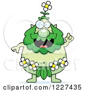 Clipart Of A Smart Male Forest Sprite With An Idea Royalty Free Vector Illustration by Cory Thoman