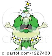 Clipart Of A Screaming Male Forest Sprite Royalty Free Vector Illustration by Cory Thoman