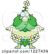 Clipart Of A Surprised Male Forest Sprite Royalty Free Vector Illustration by Cory Thoman