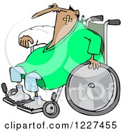 Clipart Of An Injured Accident Prone Man In A Wheelchair Royalty Free Vector Illustration