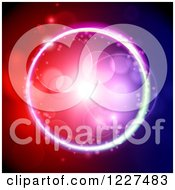 Clipart Of A Circle Of Flares And Colorful Lights Royalty Free Vector Illustration