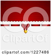 Clipart Of A Red And White Valentines Day Gift Background With Text Space Royalty Free Vector Illustration