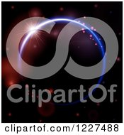 Clipart Of A Light Shining Over A Neon Circle Royalty Free Vector Illustration