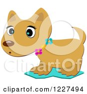 Clipart Of A Cute Puppy Dog Caught Off Guard Royalty Free Vector Illustration